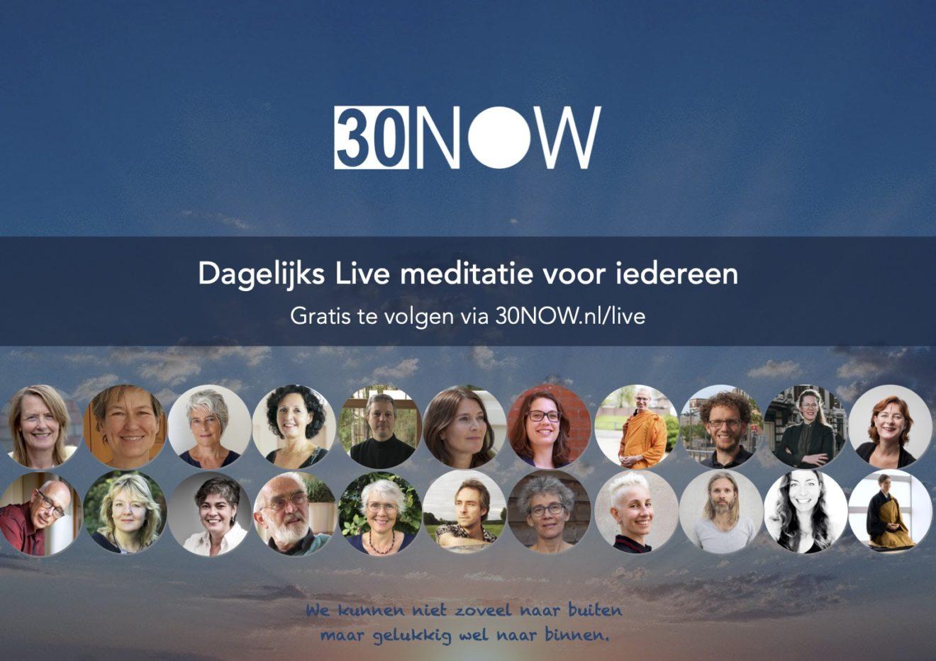 30NOW - Live meditatie voor iedereen